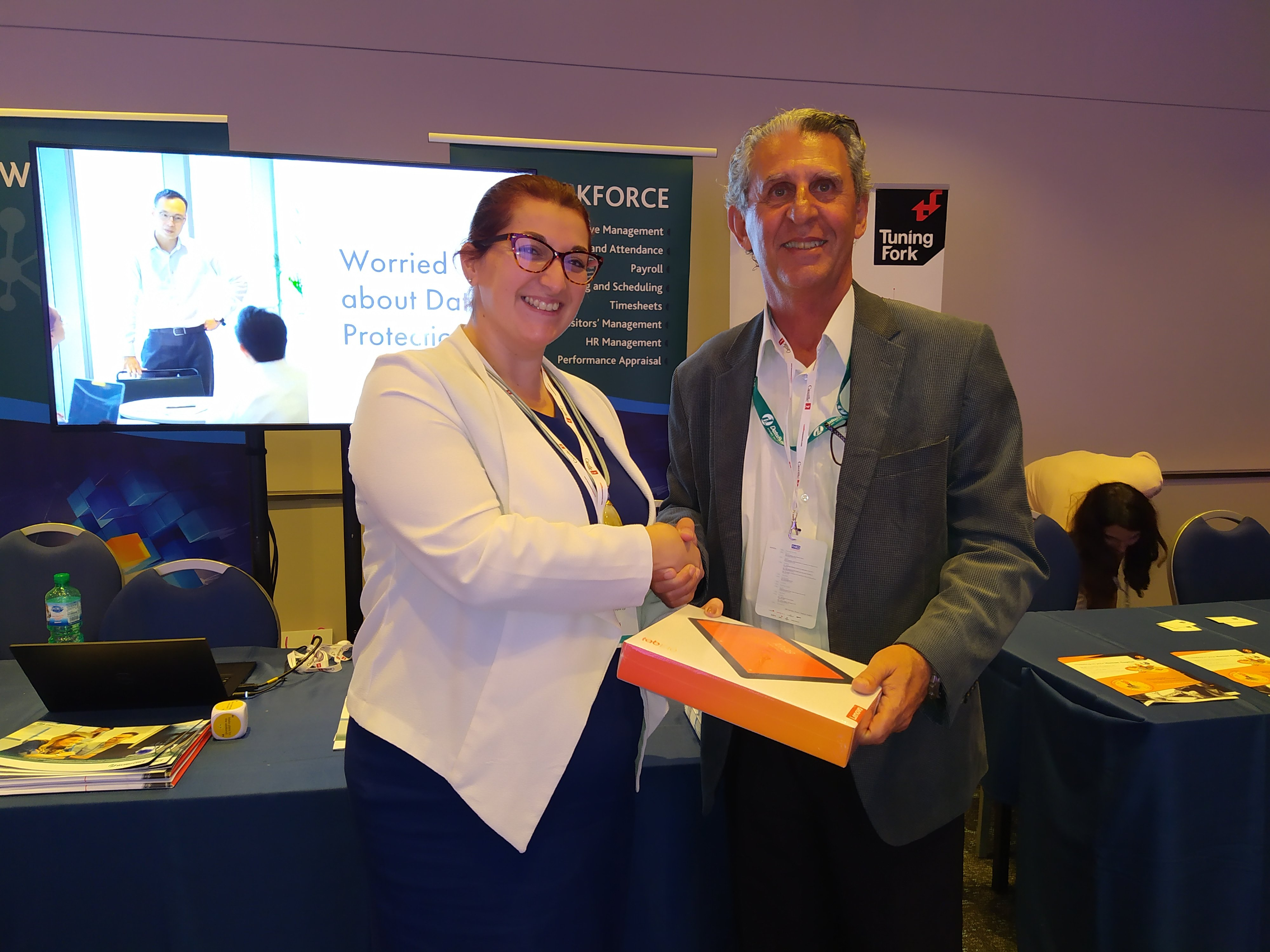 The 2nd winner of the DataByte Competition at the Annual FHRD Conference. — with Rebecca Borg Darmanin and Frederick Micallef.